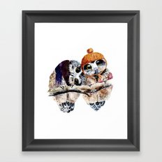Winter Owls Framed Art Print