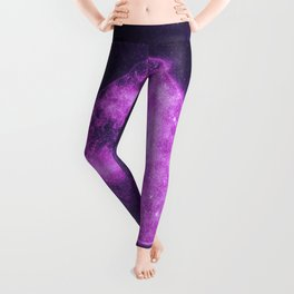 Spade symbol. Playing card. Abstract night sky background Leggings