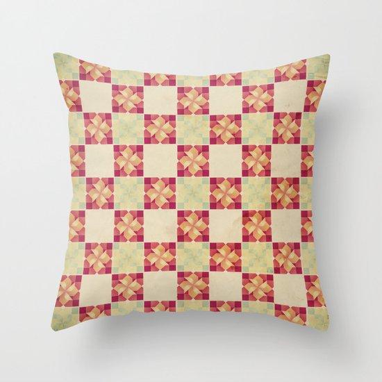 Vintage Tiles Throw Pillow