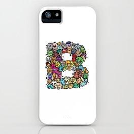Alphabet B. The alphabet series iPhone Case