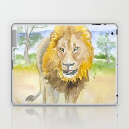 Lion in Africa Watercolor Laptop & iPad Skin