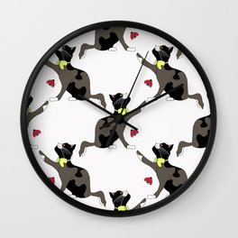 Cat and ladybug. Wall Clock