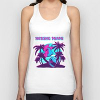 hotline miami Tank Tops featuring Hotline Miami  by noxioussomnium