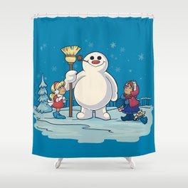 Let's Build a Snowman! Shower Curtain