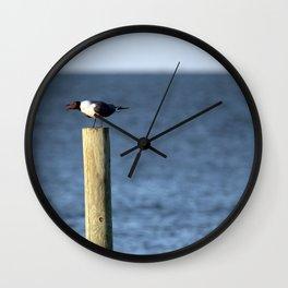 Ocracoke Seagull 3 Wall Clock