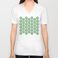 yoshi V-neck T-shirts featuring Yoshi Eggs by Rebekhaart