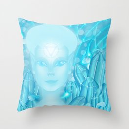 Crystal Being Throw Pillow