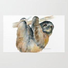 Sloth Watercolor Painting Rug