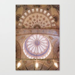 Ceiling of the Blue Mosque Canvas Print