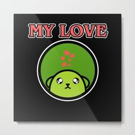 My Love Beans Soybean  Anime Cartoony Gift Metal Print