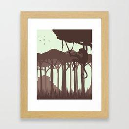 Monkey in the Jungle Framed Art Print