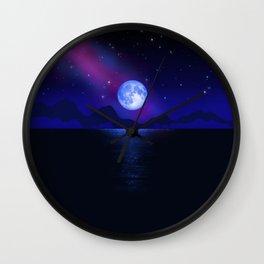 Morning Blue Moon Part 1 Milky Way Wall Clock