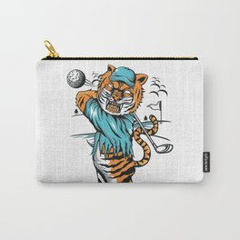 Tiger golfer WITH cap Carry-All Pouch