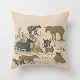 Tapirs Throw Pillow