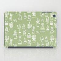 cactus iPad Cases featuring Cactus  by Chee Sim