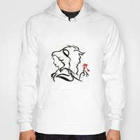 beauty and the beast Hoodies featuring Beauty and The Beast by Raisya