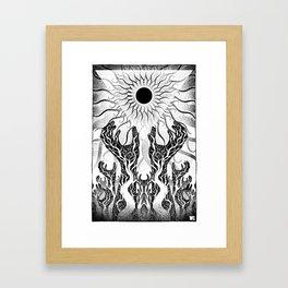 A Sun That Never Sets Framed Art Print