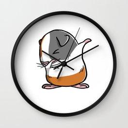 Funny Dabbing Guinea Pig Pet Dab Dance Wall Clock