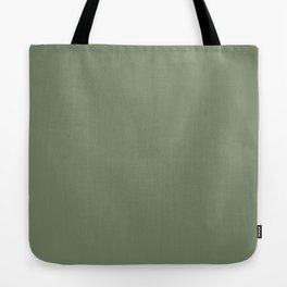 Solid Dark Camouflage Green Color Tote Bag