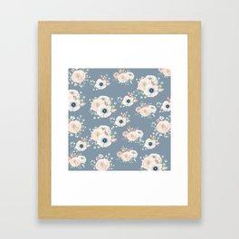 Dog Rose Pattern 3 Framed Art Print