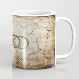 Double Infinity Silver Gold antique Coffee Mug