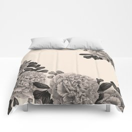 Flowers on a winter day Comforters