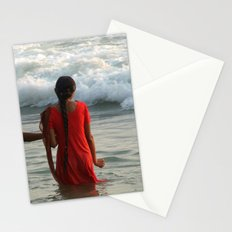Indian Women in the Sea at Varkala Stationery Cards