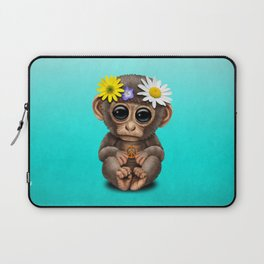 Cute Baby Monkey Hippie Laptop Sleeve