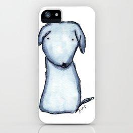 Puppy Blue iPhone Case