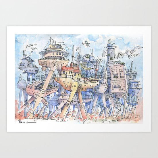 La Citta in Movimento!  Art Print