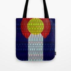 Colorado Flag/Geometric Tote Bag