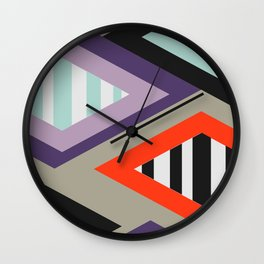 Retro geometric decoration Wall Clock
