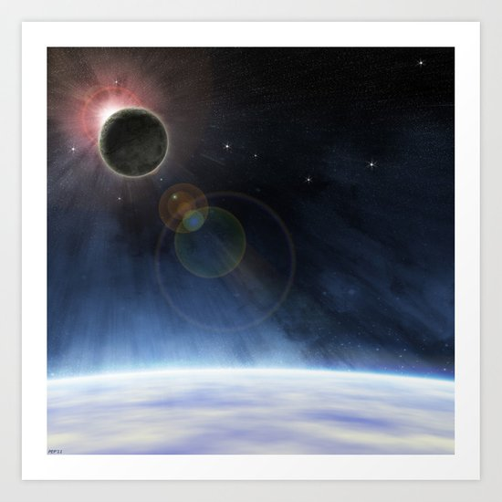 Outer Atmosphere of The Planet Earth Art Print
