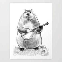 Chester and the Banjo Art Print