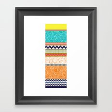 seaview beauty stripe Framed Art Print
