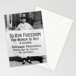 Freedom For Women is Not a Crime Stationery Cards