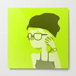 "Color Girl Series: ""Olive"" Metal Print"