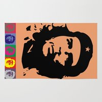 che Area & Throw Rugs featuring Che Guevara  by The Sign Factory
