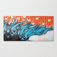 Blue hair dreams Canvas Print