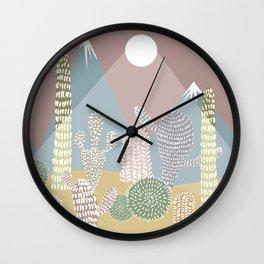 Cactus Valley Wall Clock