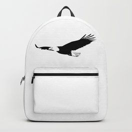Silhouette of flying eagle Backpack