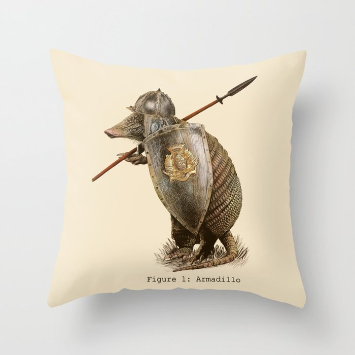 Armadillo (option) Throw Pillow