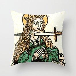Saint Lucy Throw Pillow
