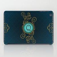 monogram iPad Cases featuring Monogram Q by Britta Glodde