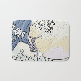 Great Wave - Silver Surfer Bath Mat