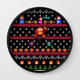 Donkey Kong Ugly Sweater Wall Clock