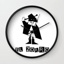 EL ZORRO Wall Clock