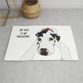 Great Dane My dog is my Valentine Rug