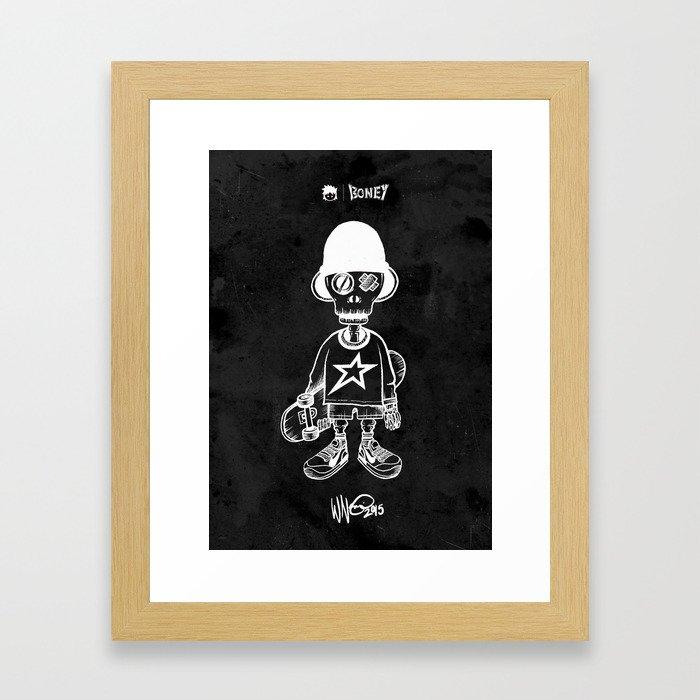 BONEY Skateboarding series - 01 Framed Art Print