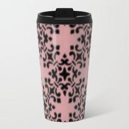 Vintage Brocade Damask Bridal Rose Travel Mug